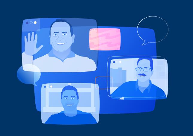 Digital etiquette illustration