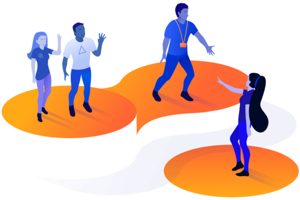 Illustration of people working in a partnership