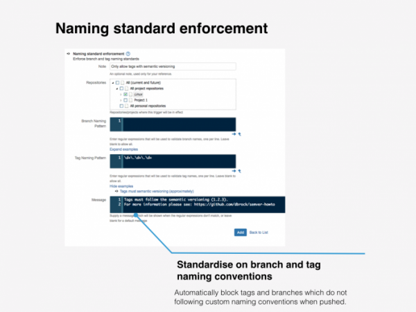 Naming standard enforcement
