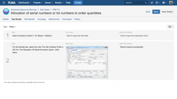 Best practices managing test cases in JIRA NUMBER 2