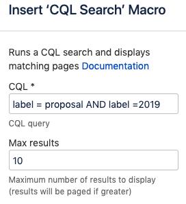 CQL search Macro