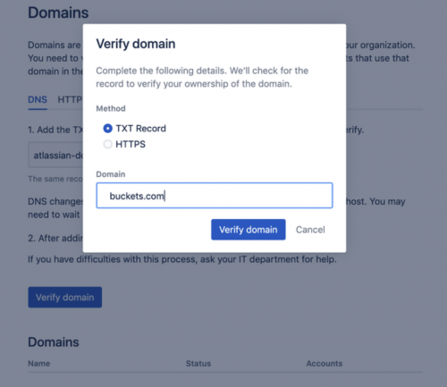 trello veriify domain