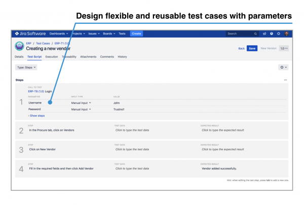 design flexible and reusable test cases