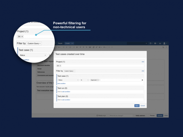 filtering for Confluence