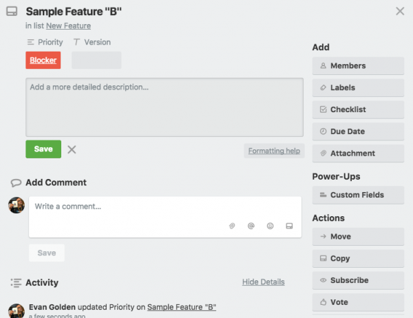 Prioritising Feature Requests in Trello
