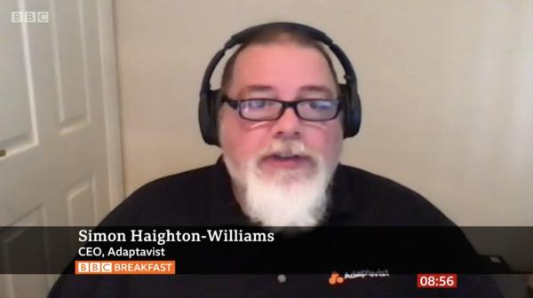 Simon Haighton-Williams on BBC Breakfast