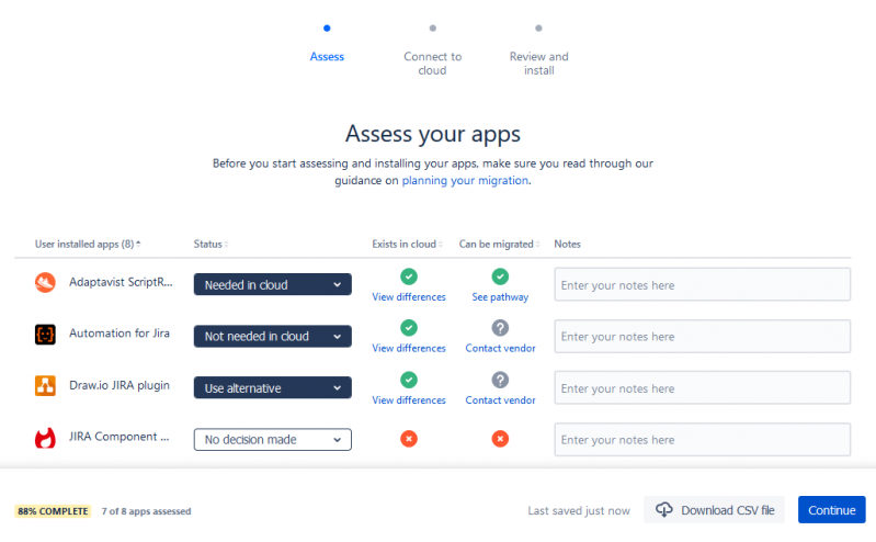 jira cloud migration assistant screen3