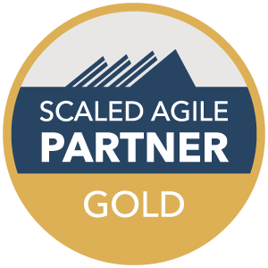 Gold scaled agile partner badge